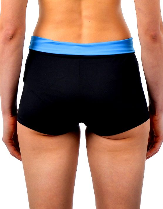 Stretchy shorts XL blue black econyl