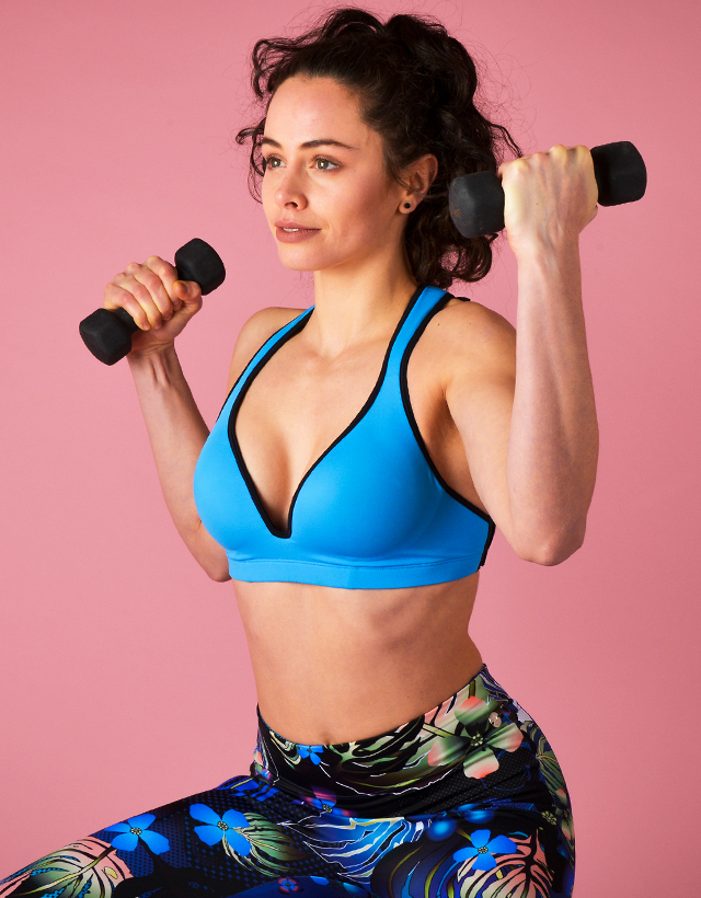 exceptional range of styles and colors selected material new items Blue Sports Bra Leilani - Gym To Swim®